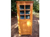 Wooden Corner Cupboard 90degree triangular cabinet shelving unit