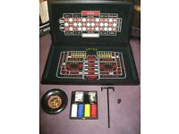 3 in 1 set for Roulette, Craps, Texas Hold Em Poker, and Black Jack