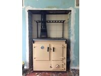Rayburn Cooker converted to oil. Vintage cooker in well used condition.