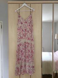 Alice Temperley Cream Floral Maxi Dress