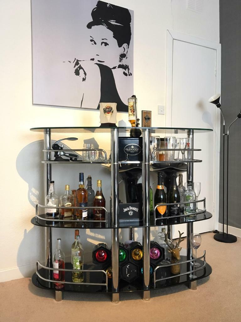 Stylish home drinks bar and stools, - and accessories priced ...