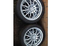 Multi-fit Alloy wheels with tyres 4x100/4x108