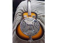 Resinator accoustic guitar.