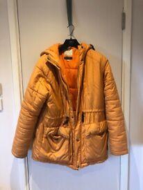 Men's Realm and Empire Orange Winter Down Coat Medium