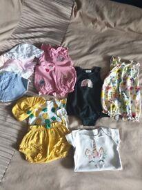 Baby girls 3-6 summer clothes bundle