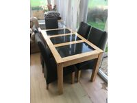 Dining table & 5 chairs - cheap