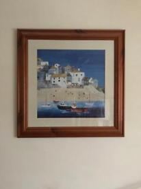 Medium/large Print Picture with pine frame