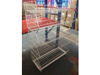 Stackable Wire Storage Bin Rack for Retail Shop