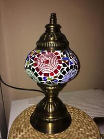 Turkish mosaic table lamps brand new