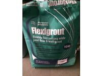 """6 10kg bags """"Ivory"""" flexigrout at £7 each & 30 20kg bags of Tile Tech tile adhesive at £15 each."""