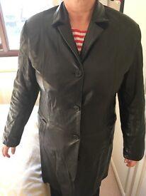 Black leather jacket Lakeland