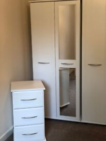 Matching three piece Bedroom Wardrobe , Drawers & Bedside Drawers