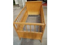 Wooden cot/childs bed
