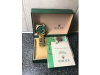 Rolex Oyster Perpetual Submariner HULK in GOLD FREE POSTAGE