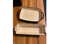 2 Cast Iron dish for baking