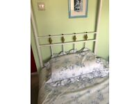 Single Four Poster Bed with Mattress - £60 ONO