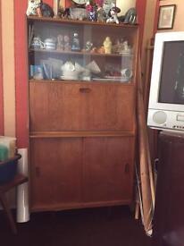 Vintage retro teak bureau
