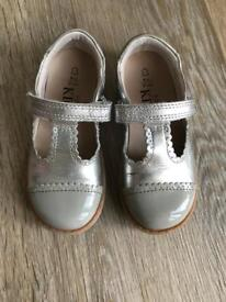 Silver M&S children's shoes size 9