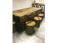Wooden workbench, be ideal for csrpentor or island in a kitchen