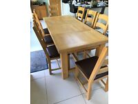 Extending Oak Dining Table and 8 Chairs