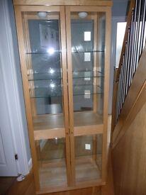 Ikea Beech display cabinet