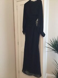 Stunning, elegant black evening dress