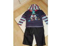 Lily & Jacks Baby Boys Hooded Long Sleeved Top & Jeans Set