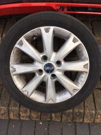 5 x Ford fiesta alloy wheels genuine ford parts
