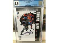 Dc Batman v superman cgc 9.8 will take £40 ono