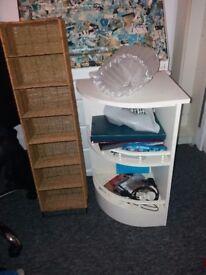 Cream colour storage shelf