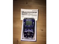 Zoom MS100-BT ultra compact, ultra powerful multi-effects pedal. Mint