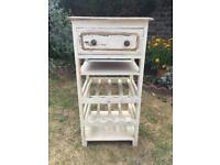 Vintage style Shabby chic painted wooden wine rack