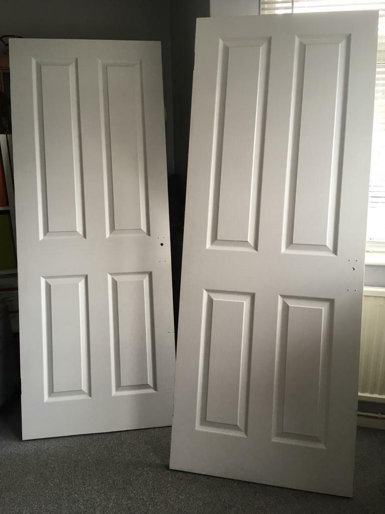 2 pre painted white internal doors in norwich norfolk - Pre painted white interior doors ...