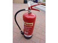 6L foam extinguisher, serviced 2018 ideal small business/shop/garage