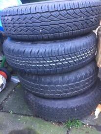 Suzuki 4x4 steel wheels and tyres