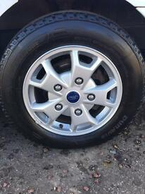"GENUINE FORD TRANSIT 16"" ALLOYS LIKE NEW..!!!!!!!"