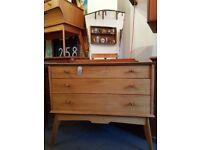 1950s Alfred Cox Chest of Drawers/Dressing Table. Vintage/Retro/Mid Century.