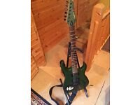 Tanglewood Che 1 Electric Guitar w/ whammy bar + hard travel case