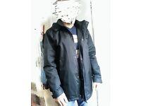 Black waterproof winter jacket for men size MIN GOOD condition
