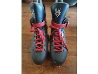 Size 4 Quad Boot Roller Skates