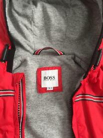 Hugo Boss boys red jacket 12months