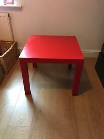 Ikea red table