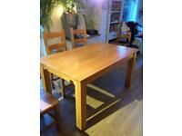 Solid Oak contemporary table