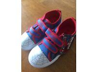 Child's Spider-Man canvas shoes size 12