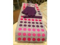 Ladies Scarf and Glove Gift Set, new with tags