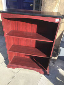 Bookcase ,with 3 shelves, collection only L 33 in D 11 in H 45 in