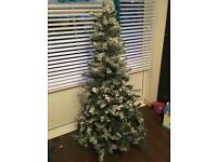 6ft snow effect Christmas Tree £15