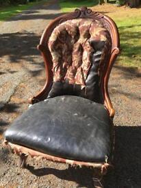 Mahogany nursing chair
