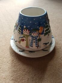 Yankee Candle shade and plate