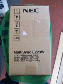 """NEC MultiSync E223W 22"""" monitor"""